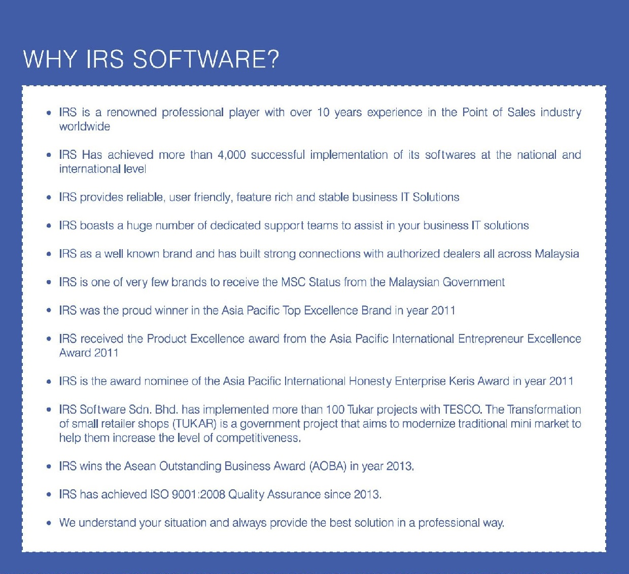 why irs software